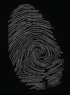 Exciting Typography Posters and Designs You're a fingerprint original!You're a fingerprint original! Graphisches Design, Logo Design, Graphic Design, Identity Design, Brand Identity, Fingerprint Art, E Mc2, Instagram Story Ideas, Word Art