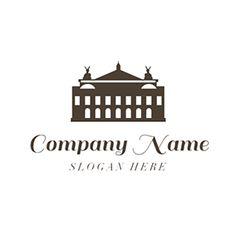 Black and White Opera House logo design Custom Logo Design, Custom Logos, Online Logo, Music Logo, Logo Maker, Home Logo, Company Names, Opera House, Black