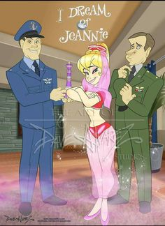 cartoons tv shows I Dream of Jeannie Animated by DaveAlvarez on DeviantArt Classic Cartoon Characters, Cartoon Tv Shows, Classic Cartoons, Cartoon Art, Retro Cartoons, I Dream Of Jeannie, La Familia Munster, Old Shows, Great Tv Shows
