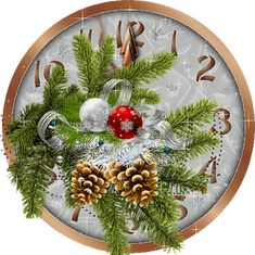 new year, christmas, clock, cones, balls Christmas Tree Scent, Merry Christmas Gif, Christmas Clock, Christmas Labels, Christmas Graphics, Merry Christmas And Happy New Year, Christmas Time, Christmas Crafts, Christmas Decorations