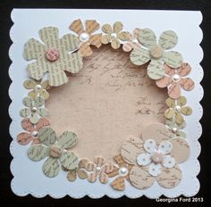 I used Craftwork Cards Antique Rose collection for this card.
