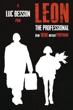 Leon: The Professional - minimal movie poster - Lewis Dowsett
