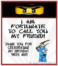Ninjago birthday treat  Ninjago Birthday Party with Free Printables