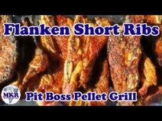 Delicious Flanken Short Ribs On The Pit Boss Pellet Grill Pellet Grill Recipes, Smoker Recipes, Grilling Recipes, Pit Boss Pellet Grill, Short Ribs, Food, Smoking Recipes, Meal, Eten