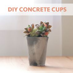 Add industrial charm to your home with these easy DIY cups - perfect for planters, pencil cups, and candle holders.