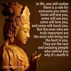 En la vida, te darás cuenta de que hay un rol para cada uno de los que conoces... Algunos te pondrán a prueba, algunos te usarán, algunos te amarán, y algunos te enseñarán. Pero los que son verdaderamente importantes son los que sacan lo mejor que hay en ti. Ellas son raras y asombrosas personas que te recuerdan por qué vale la pena.