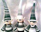 Green Elf Christmas Ornaments