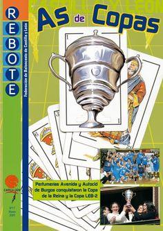 Diseño de portada y maquetación de la revista deportiva Rebote, para la Federación de Baloncesto de Castilla y León.