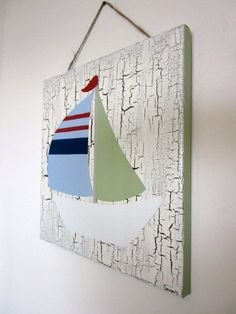 perfect sail boat/nautical theme for a nursery or Carter's big boy room!