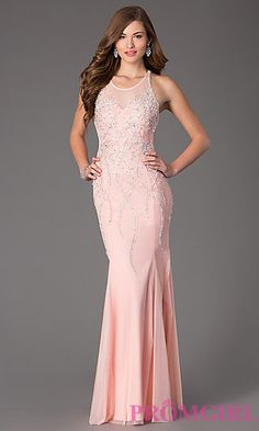 Floor Length Sleeveless Prom Dress by Sean at PromGirl.com