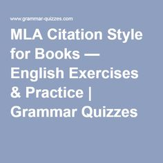 mla bibliography for books