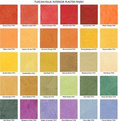 the Pratt & Lambert range of products. Tuscan colors