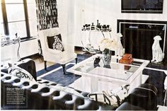 Glamorous black and white dining room home of nicky hilton dining