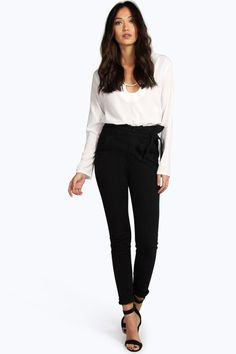 89b07c296422 Julia High Rise Paperbag Waist Relaxed Fit Jeans   Boohoo. Corporate  ChicMutter JeansSchwarze ...