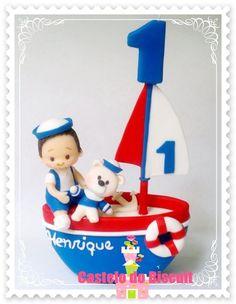 Topo de bolo ursinho marinheiro  http://www.elo7.com.br/topo-de-bolo-ursinho-marinheiro/dp/678D2B