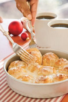 Your family will definitely want to rise, shine, and dine when they smell these rolls baking in the oven.  Recipe:Easy Orange Rolls