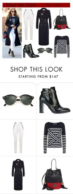 """""""Steal Her Style : Gigi Hadid"""" by style-74 ❤ liked on Polyvore featuring Ray-Ban, Tommy Hilfiger, StreetStyle, celebstyle and gigihadid"""