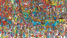Search and you will find! Where's Wally? Clue: that's NOT Wally in the middle under the man in the white shirt, it's Wenda! Wally is much harder to find, but where is he?