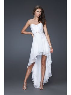 A-line Sweetheart High Low Chiffon Evening Prom Formal Bridesmaid Dresses 1601010