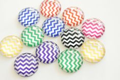 A personal favorite from my Etsy shop https://www.etsy.com/listing/265598804/chevron-dome-magnet-set-20mm-round