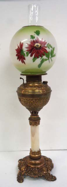 Marble & Brass Banquet Oil Lamp Victorian Lighting, Victorian Home Decor, Victorian Lamps, Antique Lighting, Antique Oil Lamps, Old Lamps, Vintage Lamps, Hurricane Oil Lamps, Piano Lamps