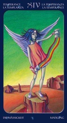 Temperance - Tarot of the Sweet Twilight Temperance Tarot Card, Tarot Cards Major Arcana, Le Tarot, Epic Of Gilgamesh, Online Tarot, Tarot Card Decks, Affirmation Cards, Oracle Cards, Archetypes