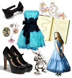 """Halloween Alice in Woderland"" by vanessadu on Polyvore"
