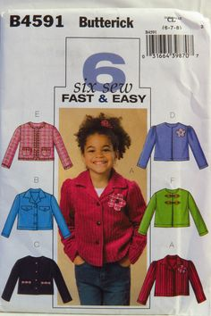 Butterick 4591 Girl's Jacket