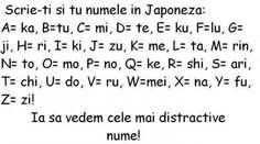 Zuzilici: Scrie si tu numele in Japoneza