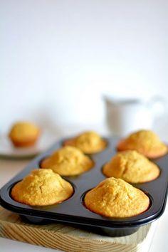 Muffins de coco, zanahoria y manzana - Dulcespostres.com