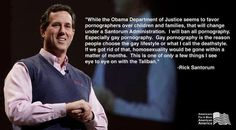 Santorum is legit crazy. All Obama needs to do is run on a pro-porn platform now. News flash, Santorum, if it's even true that you don't watch porn (snort), you are literally the only man in America who doesn't. Alienating a vast majority of your voters is not a strong campaign tactic. #idiot #goporn