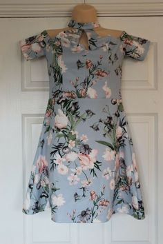 Sleeveless Size 6 Party BNWOT EX LIPSY Navy Blue Velvet Floral Shift Dress