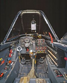 Wide-view of a Me-262A Cockpit area.