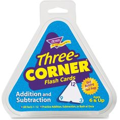 Trend Addition/Subtraction Three-Corner Flash Cards
