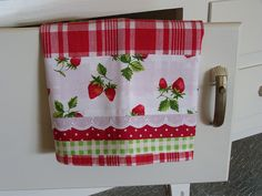 The Strawberry tea towel. by Decorative Towels - Created by Cath., via Flickr