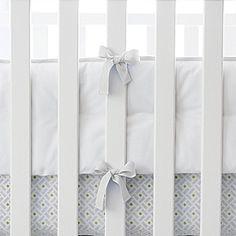 We love a clean white set of sheets for baby! #serenaandlilystyle http://lapetitepeach.com/ http://pinterest.com/lapetitepeach/