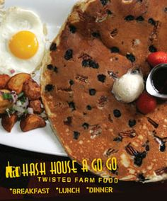 Hash House A Go Go is the BEST place for breakfast in Las Vegas.  The food is HUGE and so good.  Can't wait to try the new one at the Plaza downtown next week...got my eye on that bluberry pecan pancake!  Yummy!
