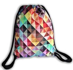 """Tasche-Rucksack - Umhängetasche - Stoff - Mehrfarbig Aufdruck - Motiv """"Jazz"""" kaufen bei Hood.de"""