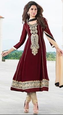 Charming Brown Chudidar Kameez | Kaneesha