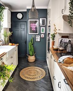 kitchen is big on personality and character, combining the traditional look of our BODBYN kitchen fronts with pops of neon and… Couch Furniture, Kitchen Furniture, Open Plan Kitchen, New Kitchen, Kitchen Ideas Australia, Kitchen Chairs, Kitchen Decor, Kitchen Towels, Bodbyn