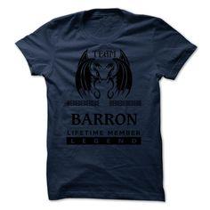 Team BARRON LifeTime Member Legend TSHIRT T Shirt, Hoodie, Sweatshirt