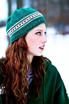 Secret Crush.  Free knitted hat pattern.