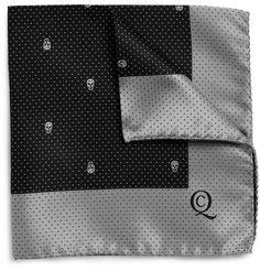 Alexander McQueenSkull-Pattern Silk Pocket Square|MR PORTER