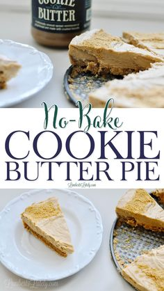 This No Bake Cookie Butter Pie takes the popular Trader Joe's Speculoos Cookie Butter to a whole new level! With a ginger snap crust and creamy filling, everyone will love this dessert recipe. Thanksgiving Desserts Easy, Great Desserts, Best Dessert Recipes, Desert Recipes, Delicious Desserts, Pie Recipes, Quick And Easy Sweet Treats, Speculoos Cookie Butter, Icebox Desserts