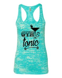 Gym and Tonic Ladies Crossfit workout Tanktop by itssweatyweather on Etsy