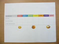 """This is a self-evaluation sheet one student created to help him reach the goals he set at his November parent conference. He used a series of """"faces"""" to assess himself each day for each goal. Teaching Career, Social Skills, Conference, November, Parenting, Faces, Student, Child, Goals"""