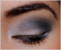smokey blue eyes makeup