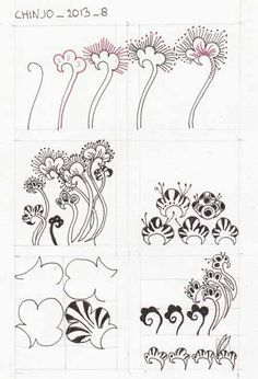 flower zentangle tangles - Google Search