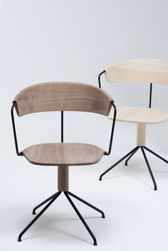 wooden task chairs | Uncino collection, by Ronan & Erwan Bouroullec for Mattiazzi
