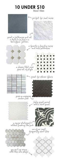 10 Under $10 Tiles Guide | 9 DIY Bathroom Tile Ideas For Less